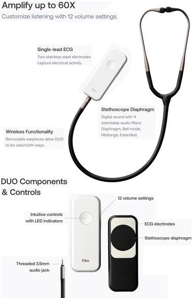 DUO ECG + Digital Stethoscope, , large