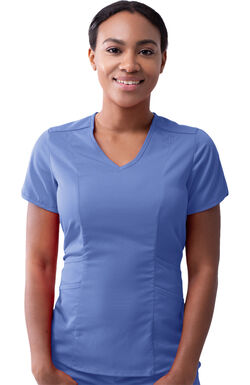 Women's Tailored V-Neck Solid Scrub Top