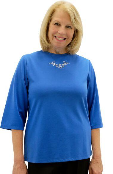Silvert's Women's Open Back Scoop Neck Solid Top, , large