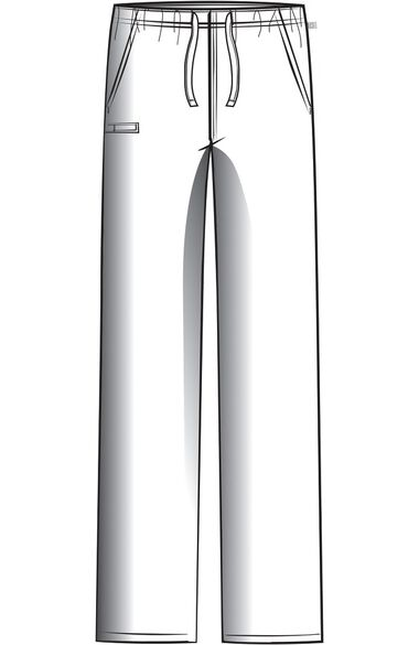 Clearance Unisex Straight Leg Drawstring Scrub Pant, , large