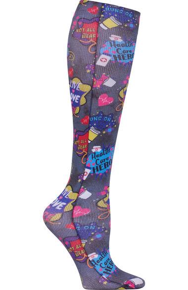 Women's 8-15 MmHg Print Compression Sock, , large