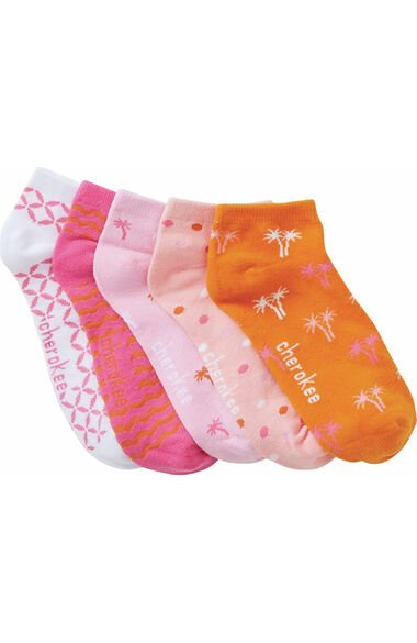 Women's No Show Palm Paradise Print Socks 5 Pack, , large