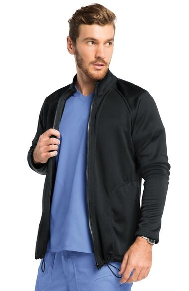 Men's Freedom Zip Front Solid Scrub Jacket, , large