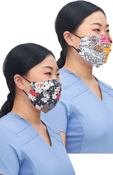 Clearance Women's Reversible Sweet Flow Jungle Print Face Mask, , large