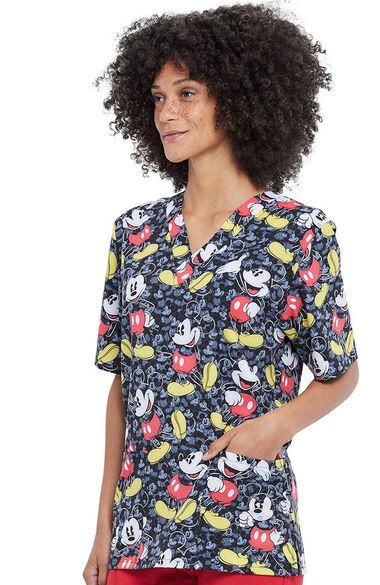 Unisex All The Mickeys Print Scrub Top, , large