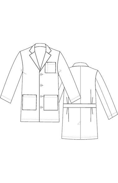 "Men's 3-Pocket Poplin Staff 35½"" Lab Coat, , large"