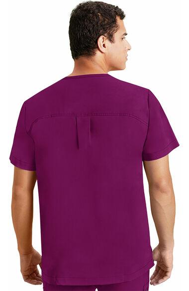 Men's Justin Solid Scrub Top, , large