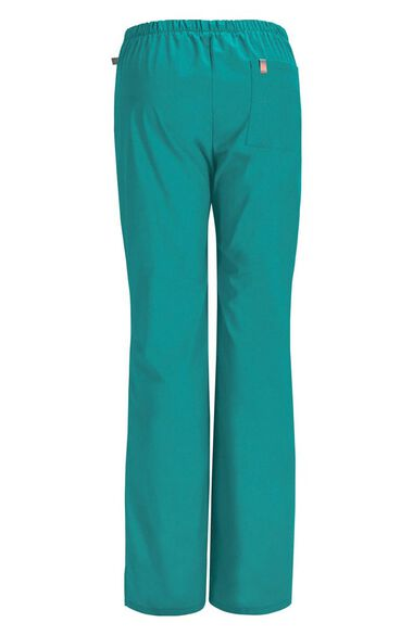 Clearance Women's Mid-Rise Flare Leg Drawstring Scrub Pant, , large