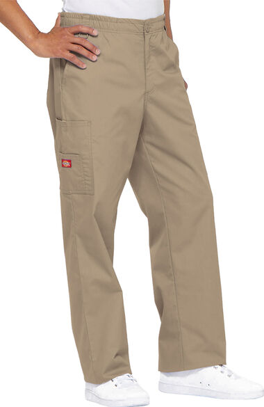 Men's Zip Fly Pull On Scrub Pant, , large