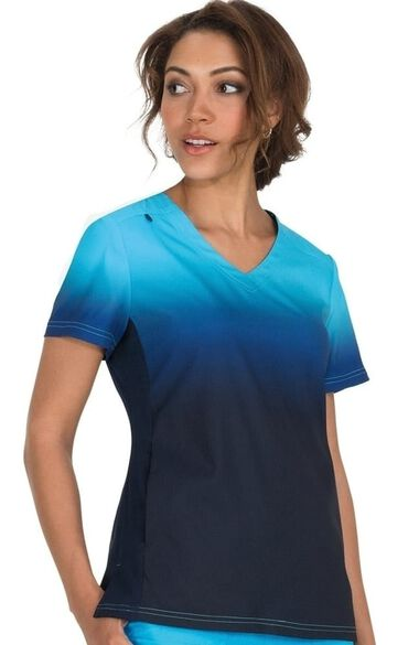 Women's Reform V-Neck Ombre Scrub Top, , large