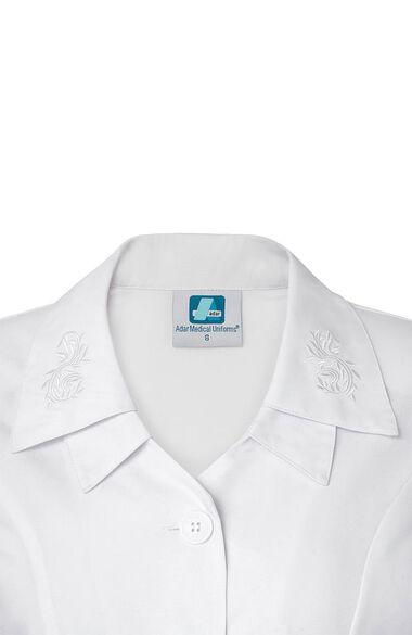 Women's Embroidered Collar Scrub Dress, , large