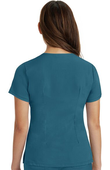 Women's Monica V-Neck Solid Scrub Top, , large