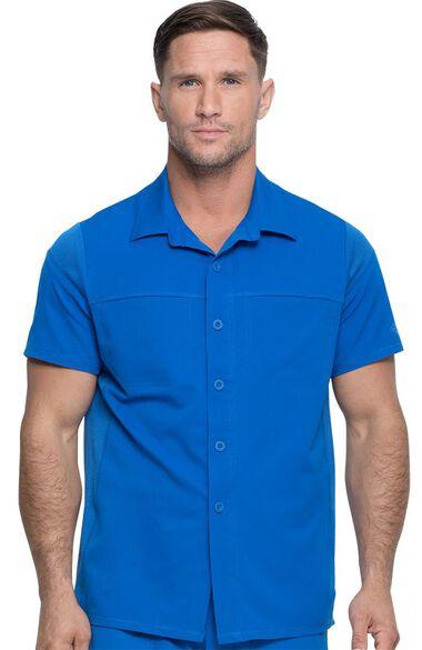 Men's Button Front Polo Shirt, , large