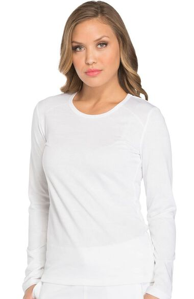 Women's Long Sleeve Solid Underscrub T-Shirt, , large