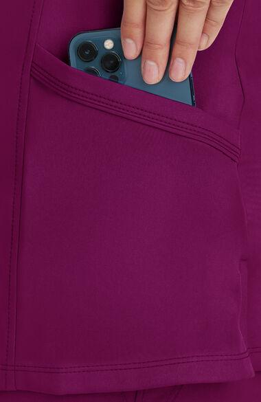 Women's Madison Mock Wrap Solid Scrub Top, , large