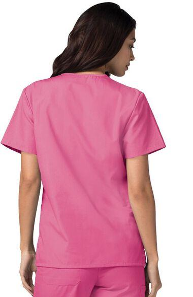 Unisex V Neck 3 Pocket Solid Scrub Top, , large