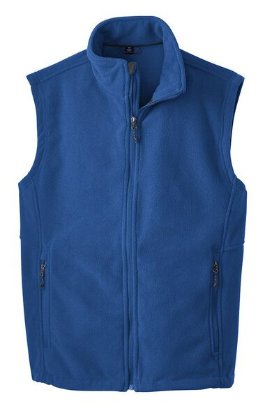 Unisex Midweight Solid Fleece Solid Scrub Vest, , large