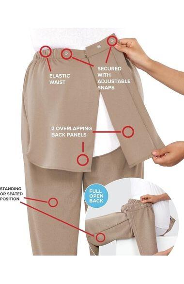 Clearance Silvert's Women's Open Back Gabardine Solid Pant, , large