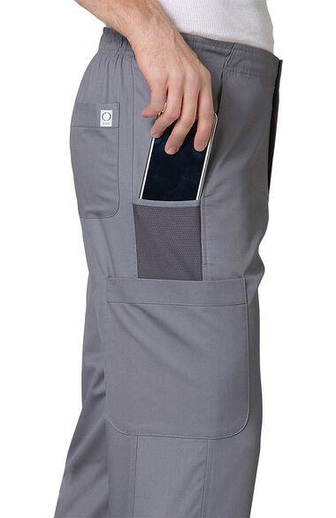 Men's COOLMAX Half-Elastic Drawstring Waist Cargo Scrub Pant, , large