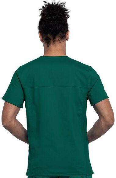 Men's 3 Pocket V-Neck Solid Scrub Top, , large