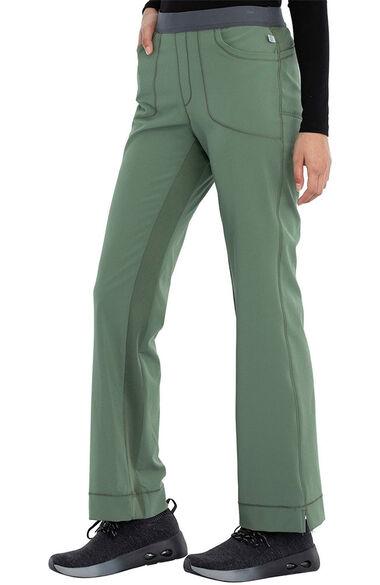 Women's Rib Yoke Waist Pull On Scrub Pants, , large