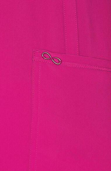 Women's Split Round Neck Solid Scrub Top, , large
