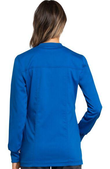 Women's Zip Front Solid Scrub Jacket, , large
