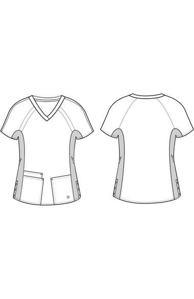 Women's Raglan Solid Scrub Top, , large