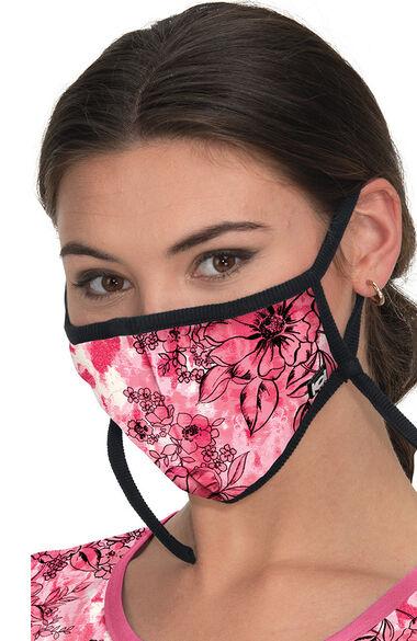 Women's Adjustable Print Fabric Mask, , large