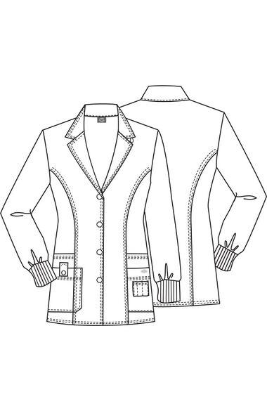 """Women's Rib Knit Cuff 32"""" Lab Coat, , large"""