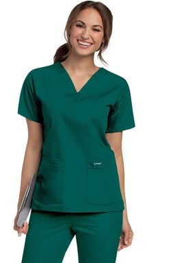 Women's 4-Pocket V-Neck Classic Fit Solid Scrub Top