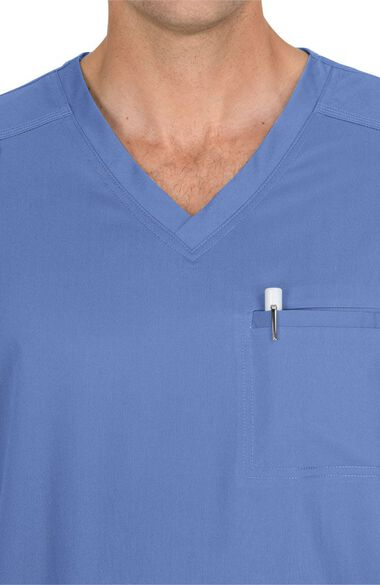 Clearance Men's Tyler V-Neck Solid Scrub Top, , large