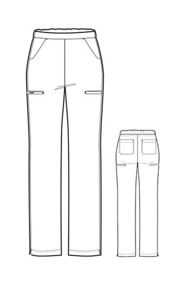 Clearance High Performance by Women's Hybrid Straight Leg Scrub Pant, , large