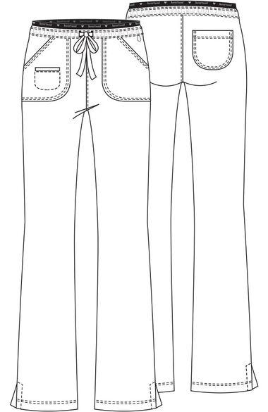Women's Heart Breaker Drawstring Scrub Pant, , large