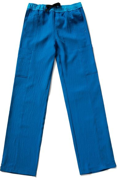 Clearance Women's Drawstring Elastic Waist Cargo Scrub Pant, , large