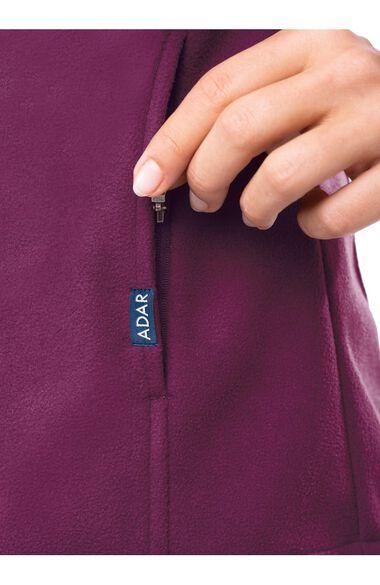 Women's Performance Fleece Solid Scrub Jacket, , large
