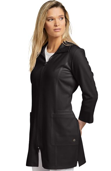 "Women's Modern Zip Front 29"" Lab Coat, , large"