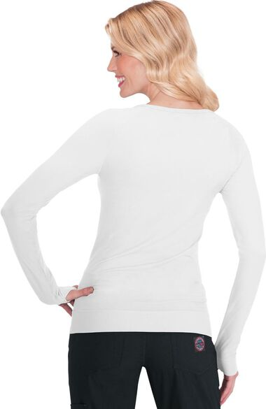 Women's Divine Seamless Solid Long Sleeve T-Shirt, , large
