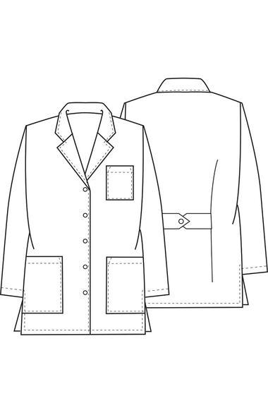 """Women's Notched Lapel 32"""" Lab Coat, , large"""