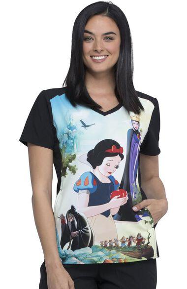 Clearance Women's Enchanted Print Scrub Top, , large
