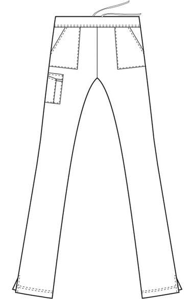 Women's Modern Flat Front Cargo Scrub Pant, , large