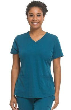 Women's Monica V-Neck Solid Scrub Top