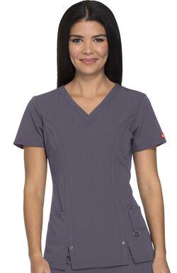 Women's V-Neck Solid Scrub Top