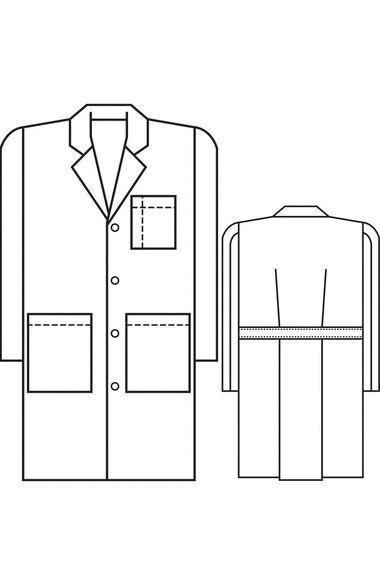 "Men's 5-Pocket Twill 38"" Lab Coat, , large"