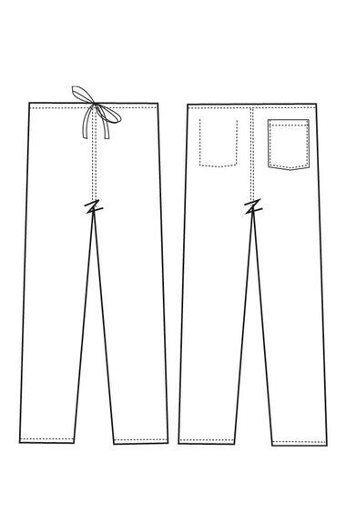 Unisex Classic Fit Reversible Drawstring Scrub Pants, , large
