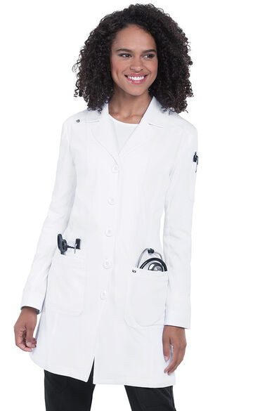 Women's Button Down Everyday Lab Coat, , large
