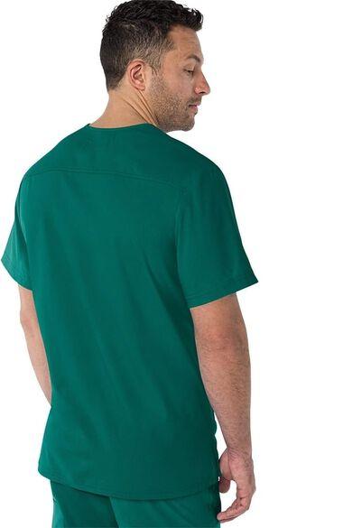 Men's Force V-Neck Solid Scrub Top, , large