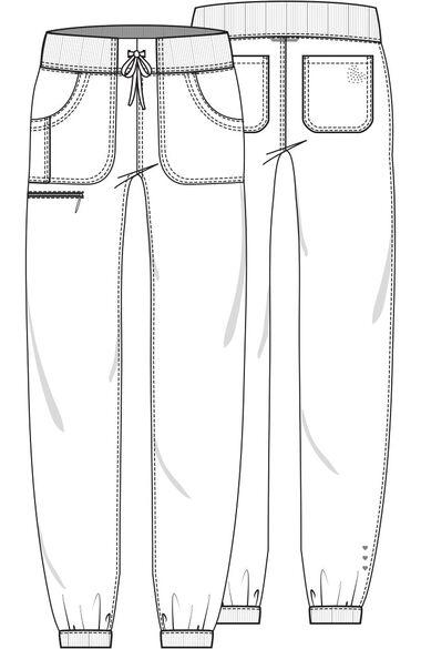 Women's Pitter-Pat Scrub Top & Tapered Jogger Scrub Pant Set, , large