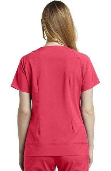 Clearance Women's V-Neck Retro Side Stitch Solid Scrub Top, , large