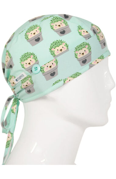 Women's Hiding Hedgehogs Print Scrub Cap, , large